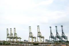 Cargo sea port in Singapore Stock Photo