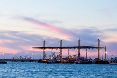 Cargo sea port - Stock Image Royalty Free Stock Photos