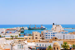 Cargo Seaport of Sousse, Tunisia Royalty Free Stock Image