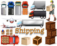 Cargo service with different transportation Stock Image