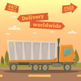 Cargo Service. Worldwide Delivery Truck. Logistic Industry Stock Photos
