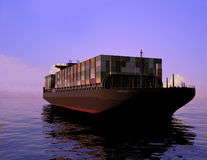 The cargo ship Royalty Free Stock Photography