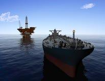 The cargo ship Royalty Free Stock Photos