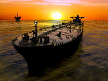 The cargo ship Stock Images