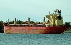 Cargo ship. On st. lawrence seaway Stock Photography