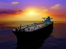 The cargo ship Royalty Free Stock Photo