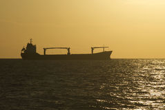 A cargo ship Stock Photo