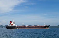 Cargo ship. On thailand bay Royalty Free Stock Photos