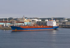 Cargo Ship. Transporting dangerous chemicals Royalty Free Stock Photos
