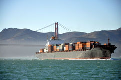 Cargo ship. Entering San Francisco