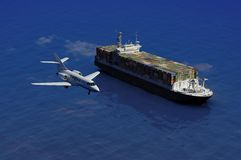 The cargo ship royalty free stock image