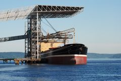 Cargo Ship. Large cargo ship at the Port of Tacoma Royalty Free Stock Photography