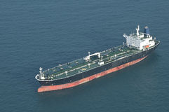 Cargo ship. Aerial picture of a cargo ship port side view royalty free stock photo