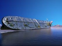 The cargo ship Stock Photo