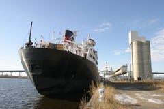 Cargo Ship. By the dock stock photos