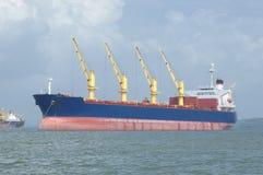 Cargo Ship With Crane Royalty Free Stock Photos