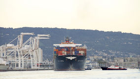Cargo Ship APL FLORIDA arriving the Port of Oakland Stock Images