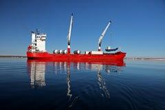 Cargo ship in Arctic Royalty Free Stock Photos
