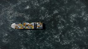Cargo ship background stock footage