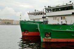 Cargo ship at berth. Stock Image