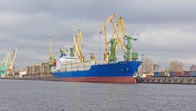 Cargo ship at berth Royalty Free Stock Photo