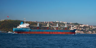 A cargo ship in the Bosphorus Stock Images