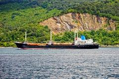 Cargo Ship on Bosporus Strait Stock Photos