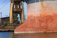 Cargo Ship Bow Royalty Free Stock Image