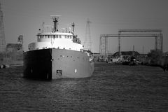 Cargo ship bow Royalty Free Stock Photography