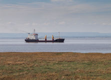 Cargo Ship in Bristol Channel, England Royalty Free Stock Photography
