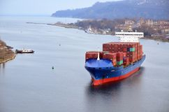 Cargo ship CALISTO Stock Photo