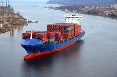 Cargo ship CALISTO Stock Photos