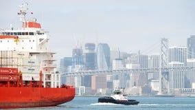 Cargo ship CAP PALMERSTON entering the Port of Oakland Stock Photos