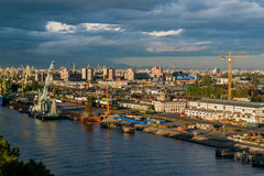 Cargo Ship in cargo sea port in St. Petersburg Stock Photography