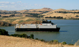 Cargo ship, Carquinez Straight Royalty Free Stock Photos
