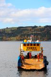Cargo ship in Castro Chile Stock Photography