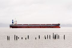 Cargo Ship, Columbia River Royalty Free Stock Image