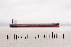 Cargo Ship, Columbia River Royalty Free Stock Image