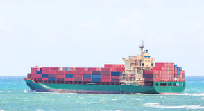 Cargo ship. Cargo container ship full with containers Royalty Free Stock Photos