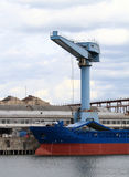 Cargo ship, containers and crane Royalty Free Stock Photography