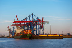 A cargo ship with a containers Royalty Free Stock Photography
