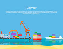 Cargo Ship Containers Shipping Royalty Free Stock Image