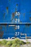 Cargo ship depth gauge Royalty Free Stock Photo