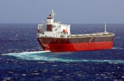 Cargo ship designed for transp royalty free stock photo
