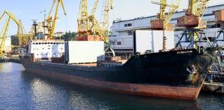 Cargo ship at dock Royalty Free Stock Photography