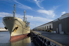 Cargo Ship at Dock Royalty Free Stock Photography