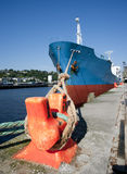 Cargo Ship Docked 002 Royalty Free Stock Photos