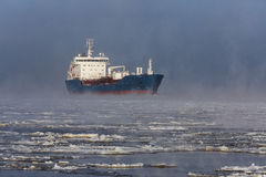 Ship in ice Royalty Free Stock Image