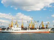 Cargo ship expecting for loading Royalty Free Stock Photo