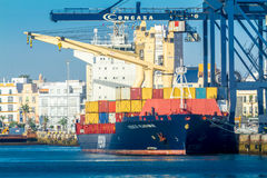 Cargo ship Fesco Vladimir Royalty Free Stock Photo